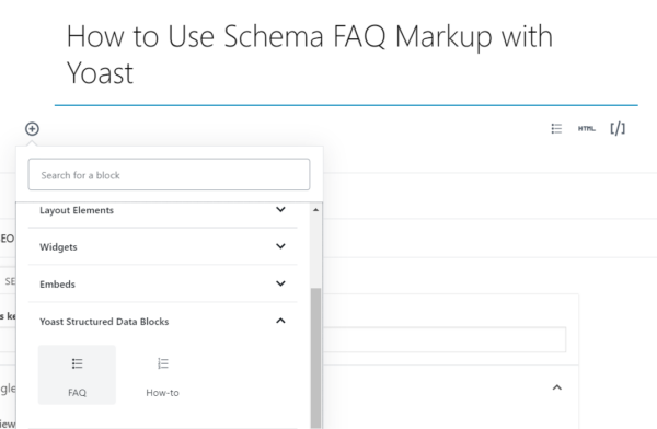 Adding FAQ Schema with Yoast