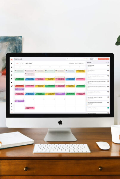 A sample content calendar created with InfluenceKit