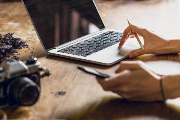 Blogger on Computer