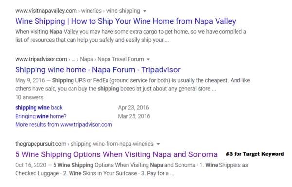 SERPs After Moving Article to New Site