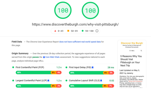 Perfect Google PSI Scores