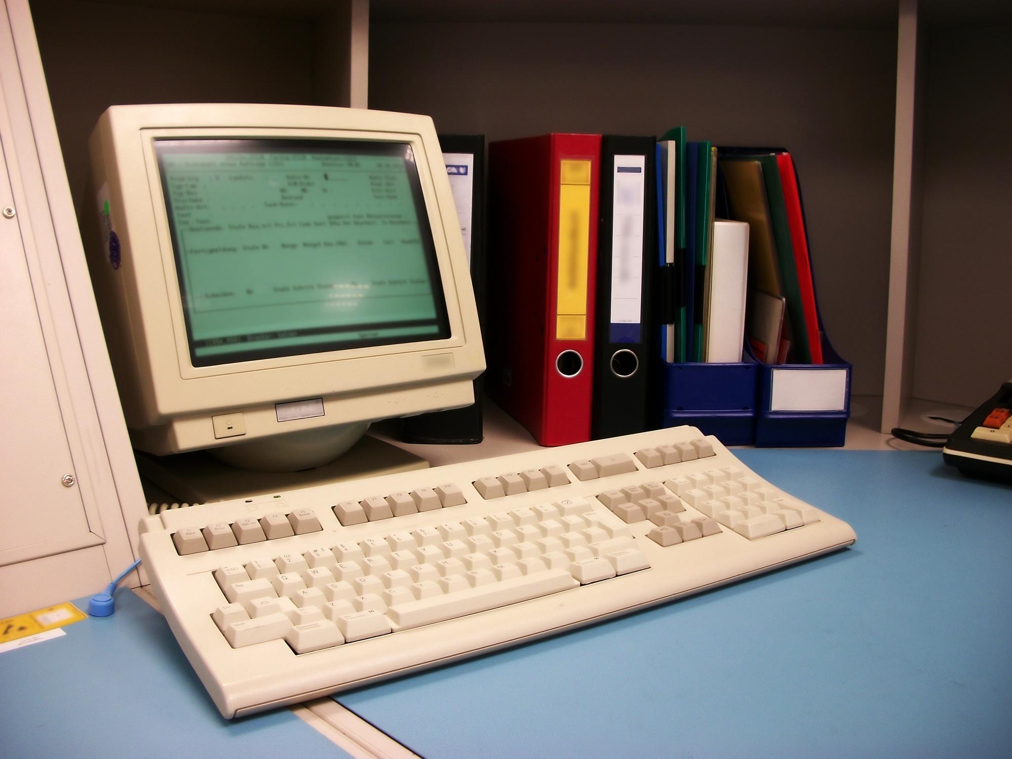 Old computer workstation